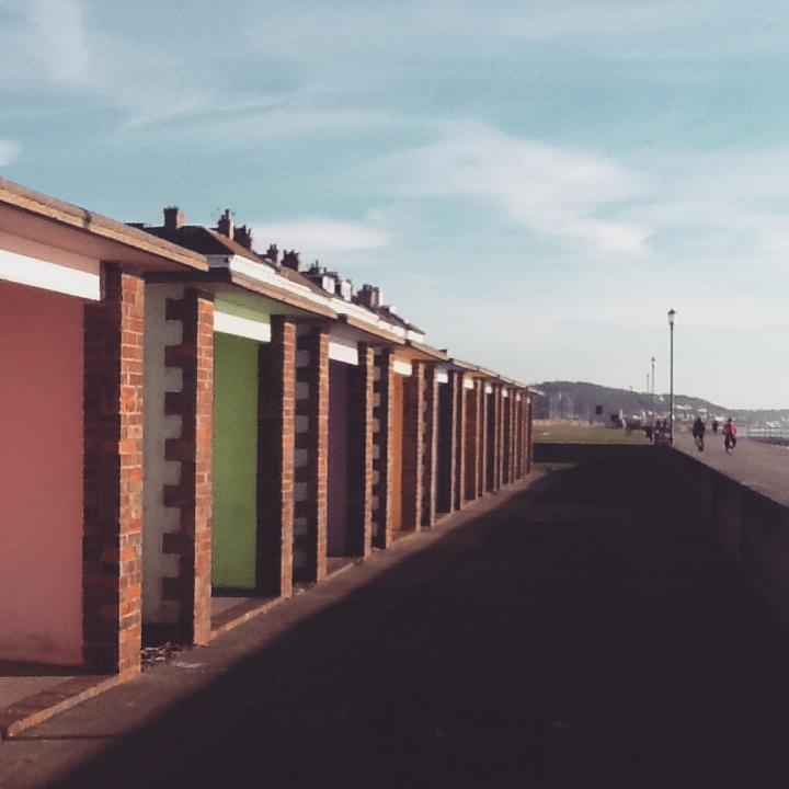 Hythe beach huts, marine parade