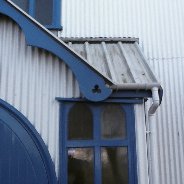 Tin church Hythe, details