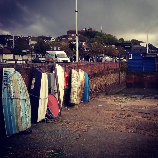 Old rowing boats, Folkestone Harbour